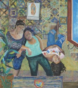 Aliza Nisenbaum (Mexico, b.1977), Las Talaveritas, 2015. Oil on linen, 64 x 57 in. © Aliza Nisenbaum. Valeria and Gregorio Napoleone Collection, London. Courtesy of the artist and Anton Kern Gallery, New York